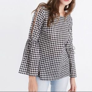 Madewell | Buffalo Tie Shoulder Blouse Top